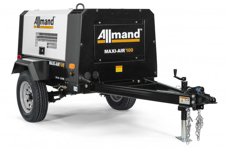 Allmand Bros Maxi Air 100 delivers 115 psi at maximum working pressure