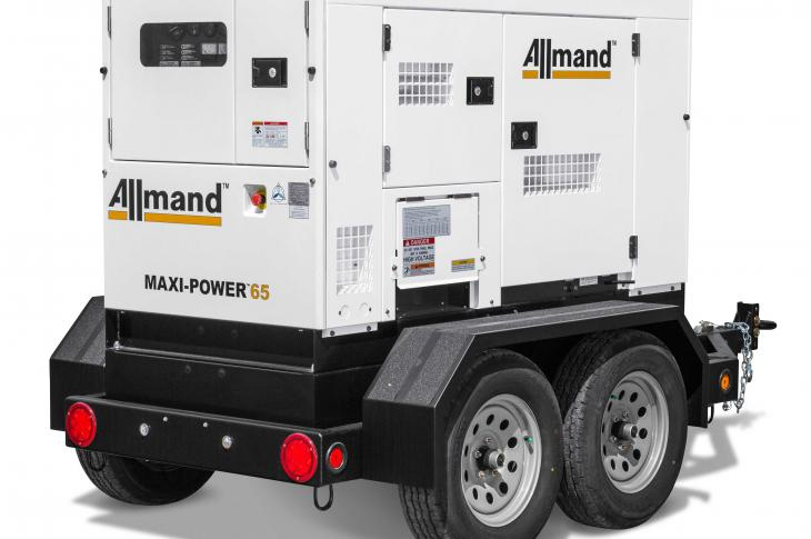 Allmand Bros Maxi-Power 65 generator delivers 63 kVA prime power
