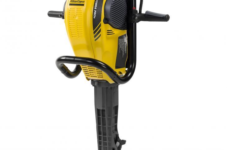 Atlas Copco PROe, Cobra TTe Gas-Powered Handheld Breakers Have Two Tool Shank Sizes