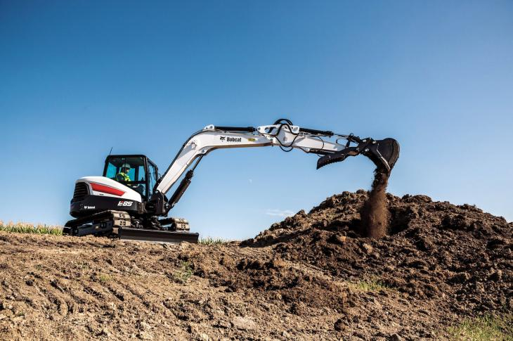 Bobcat 8.5-ton E85 expands the R Series excavator lineup and is its largest compact excavator