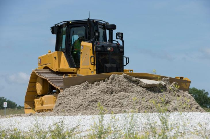 Caterpillar's D6 XE dozer on site.