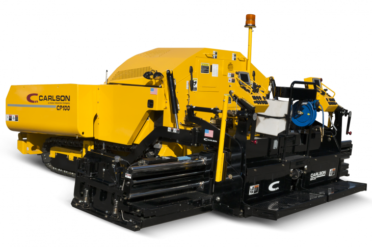 Carlson CP100 II asphalt paver has been upgraded with a Cummins QSF Tier 4-F diesel