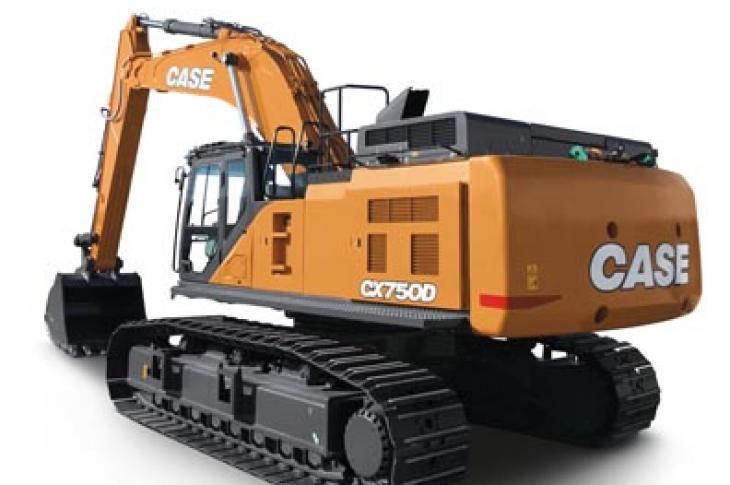 """Operating at 512 horsepower, Case CX750D is available in standard and """"mass excavation"""" configurations."""