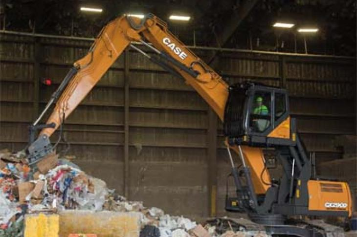 Case CX290D Material Handler, Scrap Loader