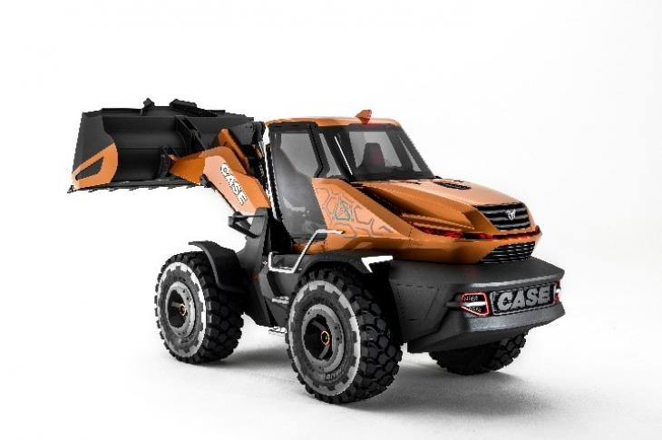 Case Project Tetra concept wheel loader Case concept loader is powered by an FPT Industrial natural gas engine.
