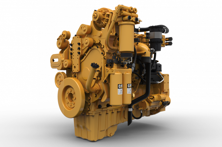 The C9.3B 6-cylinder 9.3L engine combines a high-pressure common-rail fuel system and simplified air, electrical, and aftertreatment systems to produce up to 455 horsepower and 1,540 lb.-ft. of torque out of a package that is nearly 309 pounds lighter than its predecessor.