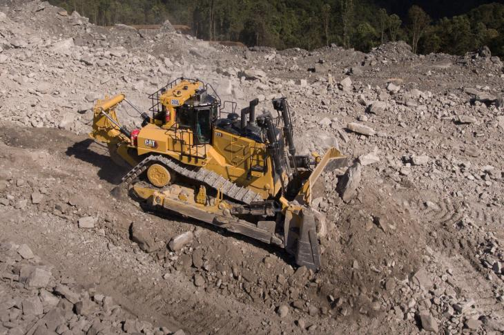 The D11 dozer features new load-sensing hydraulics, high-horsepower reverse, and the latest Cat technology—it is also engineered to be rebuilt multiple times, with a redesigned main frame.