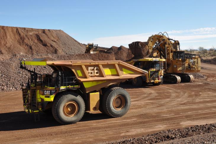 Caterpillar 793F truck in a mine