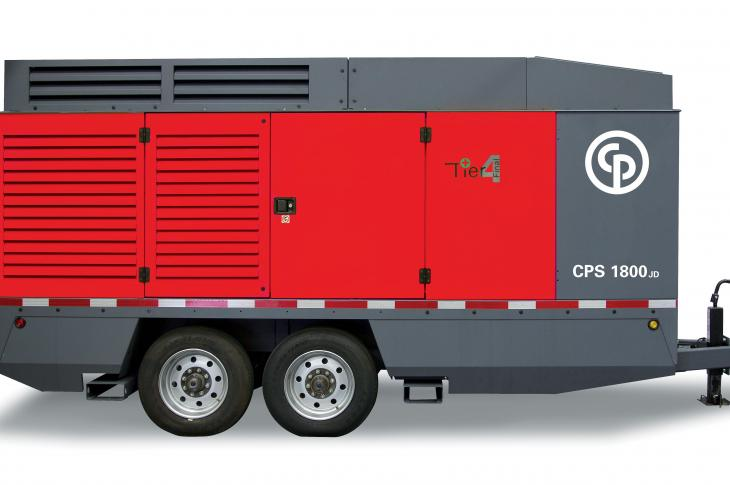 CPS 1800 JD8 T4-F portable compressor is a twin single-stage, oil-injected, rotary screw-type compressor designed for a wide range of applications.