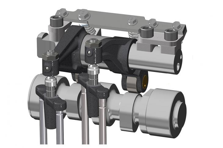 With Jacobs' CDA, cylinder deactivation mechanisms originally designed for a High Power Density (HPD) brake are used in the valvetrain