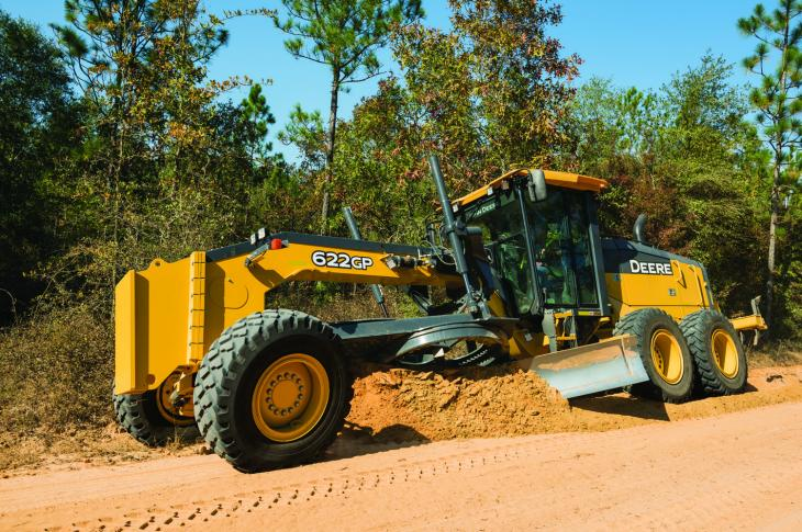 Newest additions to the John Deere G-Series motor grader line are the 620G/GP and 622G/GP