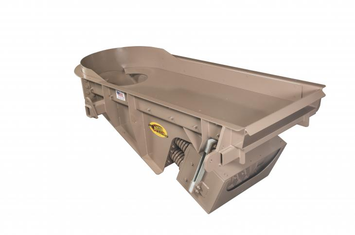 The EMCO 360 Crusher Optimizer Feeder from Deister is the latest addition to the company's EMF Series of two-mass electromechanical vibrating feeders and is designed, says Deister, to optimize cone-crusher performance by controlling uneven rock buildup within the crusher.