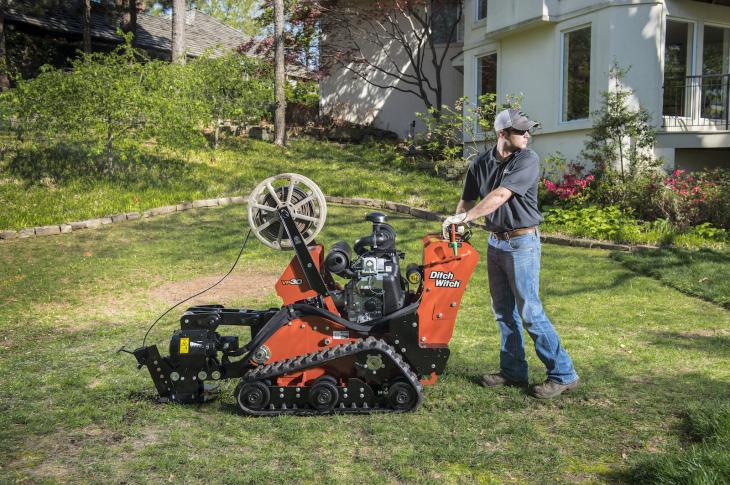 Ditch Witch VP30 vibratory plow is designed to install residential utility products