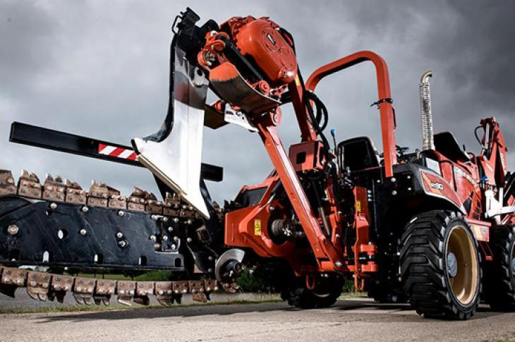 Ditch Witch RT80 trencher is ready to work.