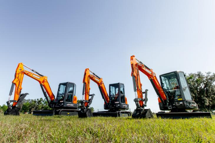 Three models have been added to the company's North American line of excavators