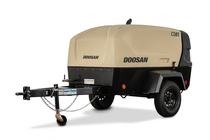 Doosan Portable Power C185 compressor has a 65-percent larger fuel tank