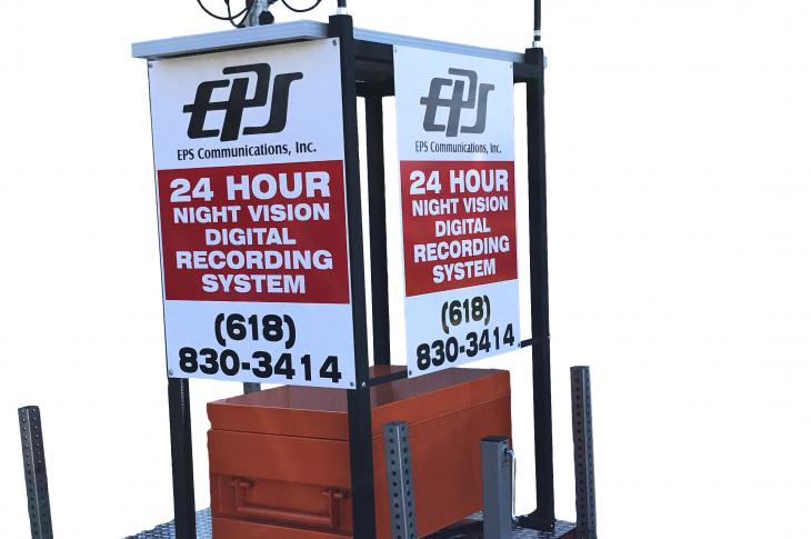 The EPS 24-Hour Recording System provides a nearly complete 360-degree surveillance, detection, and recording package