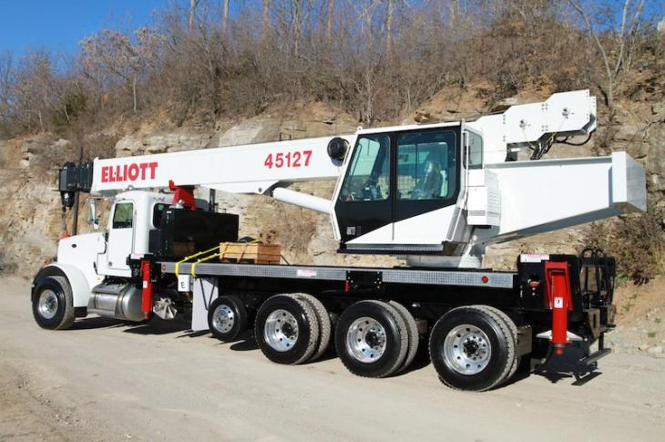 Elliott 45127R Boom Truck has a 45-ton rated capacity