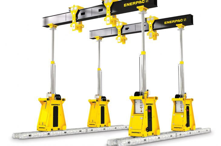 Enerpac SL300 hydraulic gantry joins the SL series of telescoping hydraulic gantries.