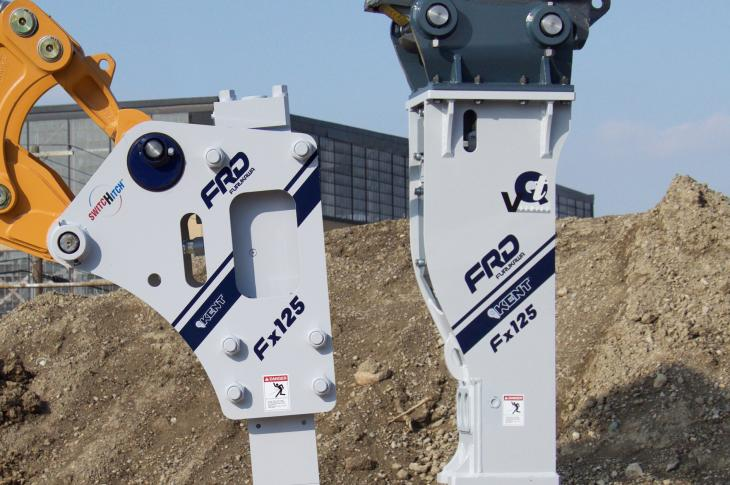 FRD Fx125 Series Hammers for Backhoes and Mini Excavators