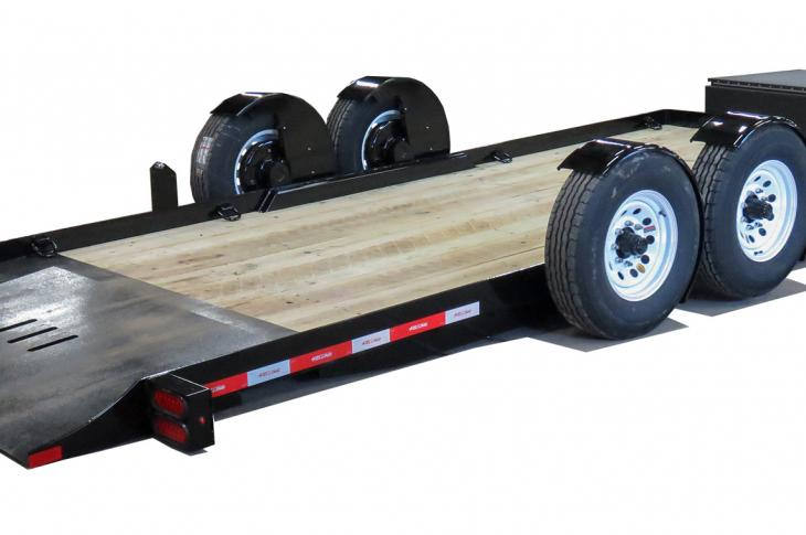 EZ Tilt Technology allows for ground-level loading with its rotating torsion suspension, providing a 5-degree load angle.
