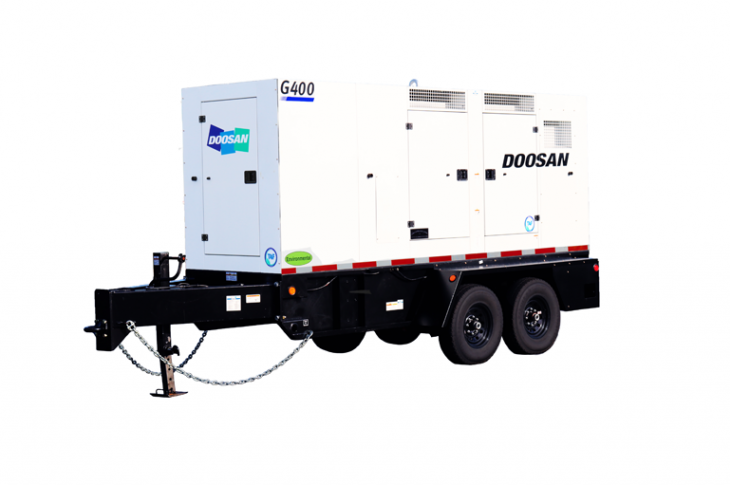 Doosan Portable Power G400WCU-T4F generator has a prime power rating of 322 kW