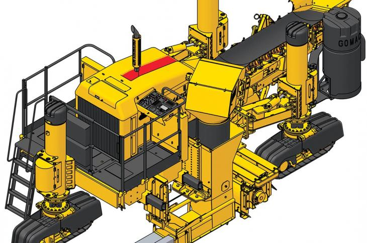 GOMACO 3300 Multi-application Slipform Paver Packed with Technology