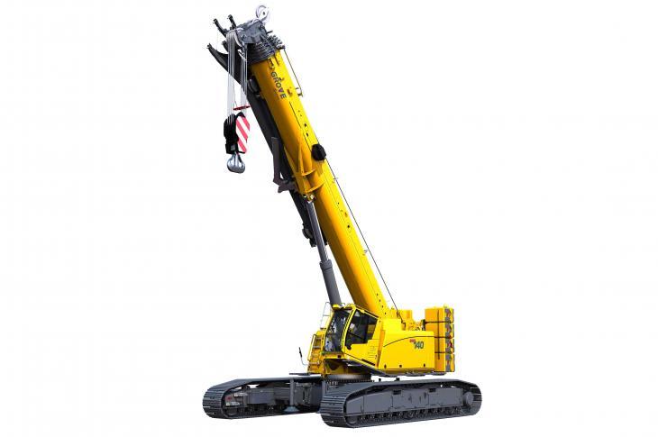Grove GHC140 telescoping crawler crane has a 171-foot, six-section boom.