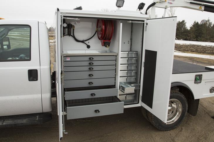 American Eagle Aluminum Series Drawer Systems for Work Trucks