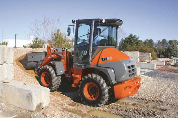 The ZW80 is a 63-horsepower wheel loader from Hitachi Construction Machinery Loaders America (HCMA)
