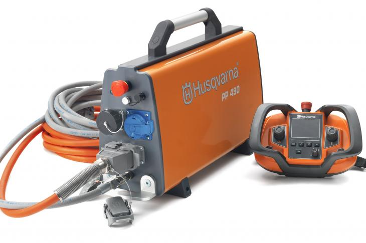 Husqvarna PP 490 Power Pack Drives Multiple Pieces of Husqvarna Equipment
