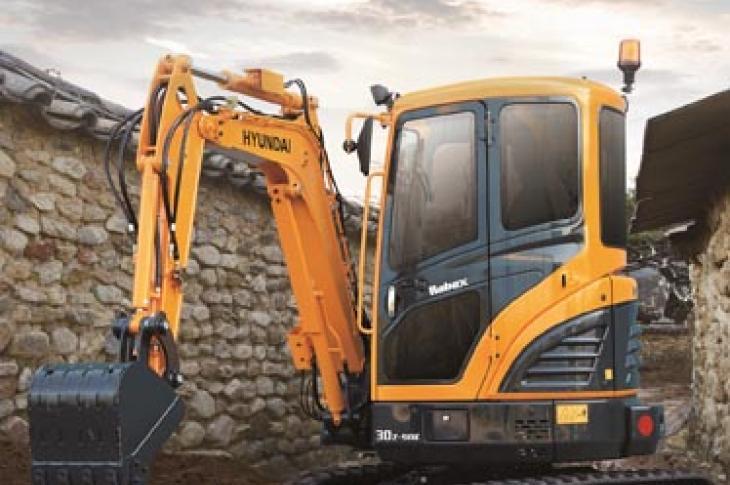 Hyundai R30Z-9AK is a three-ton-class excavator