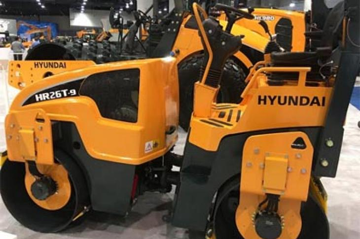Hyundai HR26T-9 compactor has an operating weight of 6,400 lb