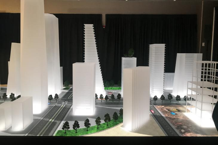 AEM's model smart city, on display during the August 19 press conference.
