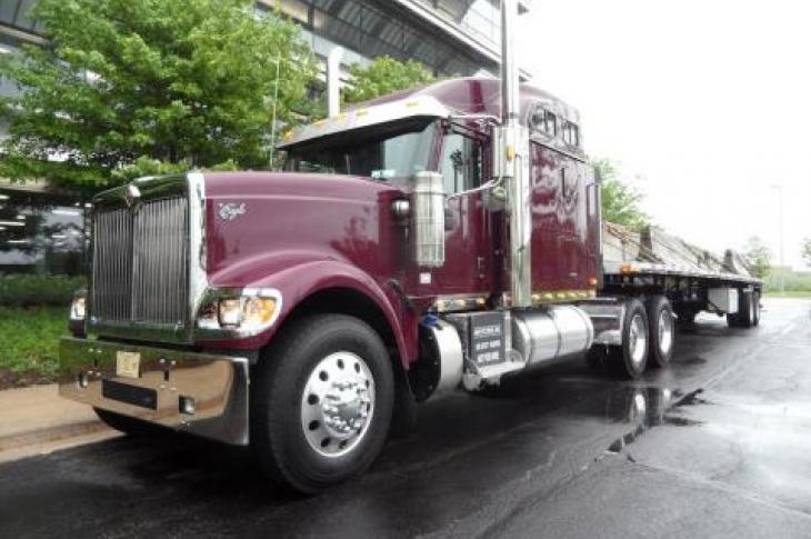 Navistar truck ready to drive on the road.
