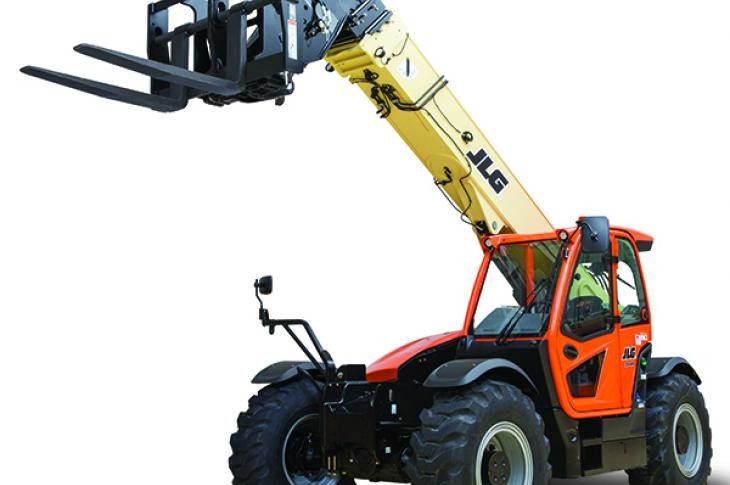 JLG 1644 telehandler has a lift capacity of 15,600 pounds