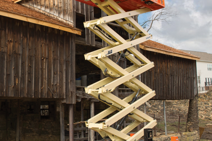 JLG LRT series scissor lifts have improved controls