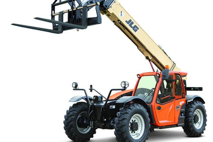 JLG 742 telehandler has maximum lift capacity of 7,000 pounds