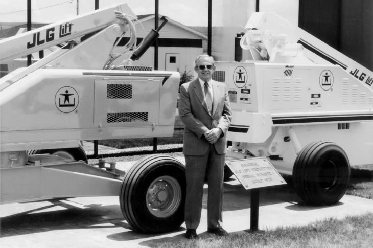 John L. Grove, the founder of JLG industries.