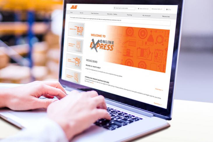 JLG has upgraded its Online Express parts ordering system