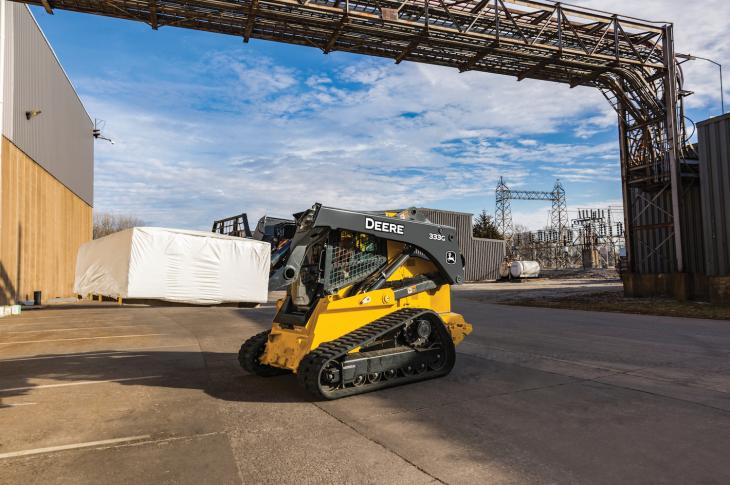 Worksite Pro pallet forks are available in 45-inch and 60-inch frames for John Deere G and E Series skid steers and CTLs, and L, K II and K Series compact loaders, as well as most competitive models.