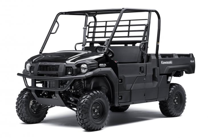 Kawasaki MULE Pro-FX side-by-side features single-row seating