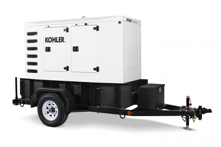 Kohler Power Systems 55REOZT4 Mobile Generator Uses Mobile Paralleling Box