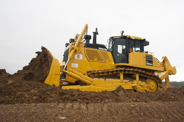 Komatsu D155AXi-8 is an intelligent machine control dozer