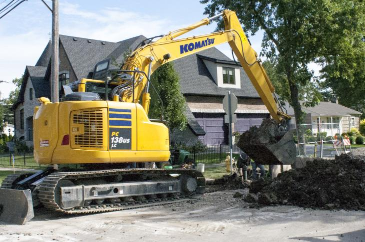 Backfill blades are becoming more prevalent in the mid-size class of excavators