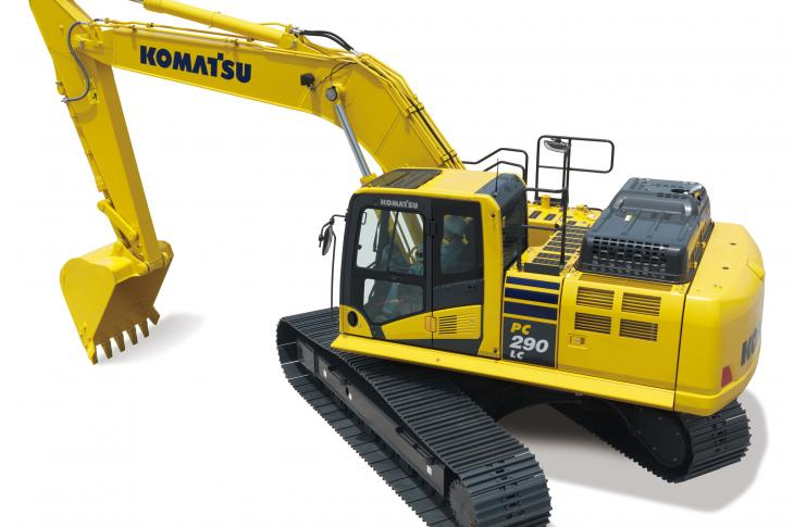 Komatsu PC290LCi-11 excavator has an operating weight range of 70,702 to 72,091 pounds