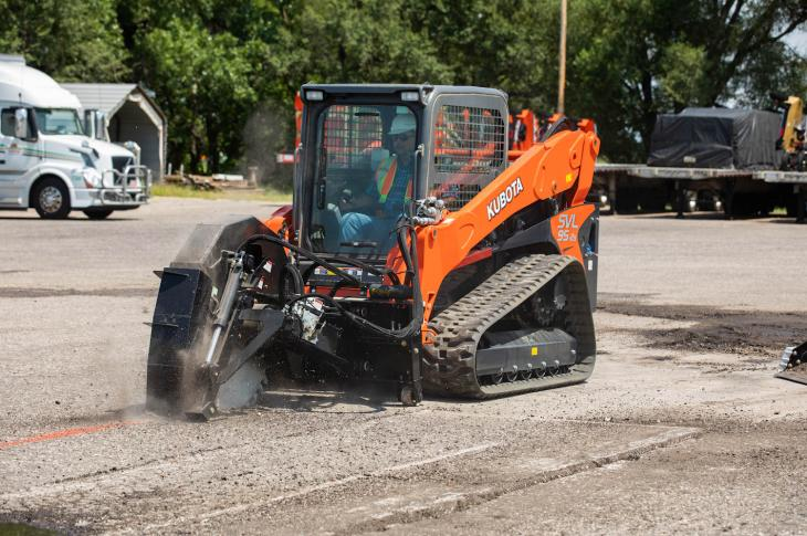 Kubota-branded attachments now include cold planers, road saws, breakers, and hopper brooms, as the company has gone from having 9 attachments available three years ago to 40 today.