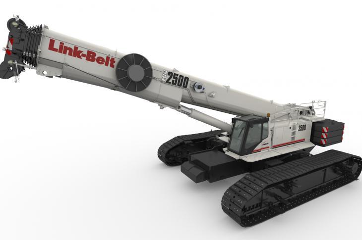 Link Belt TCC-2500 telescopic crawler crane has been added .