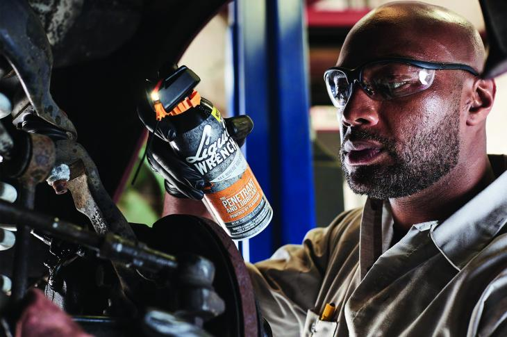 Pro Penetrant and Lubricant, powered by FlashSight Technology, features a built-in LED light located directly above the spray nozzle, enabling users to see where they spray and improving accuracy in low-light areas.
