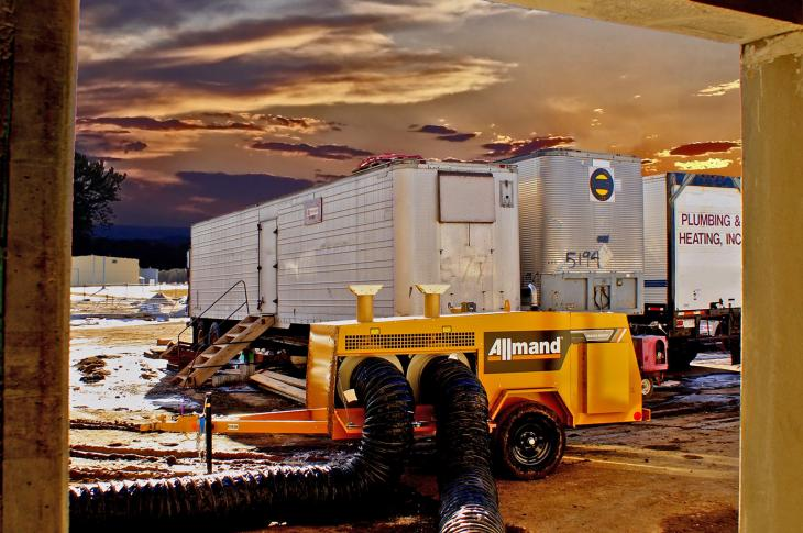 Allmand Maxi Heat MH500iQ Heater Produces 1 Million Combined BTUs